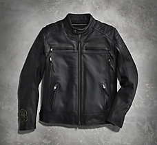 Telescopic Thrash Leather Jacket