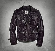 Geneveve Metallic Leather Jacket