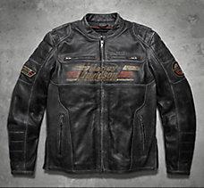 Astor Distressed Leather Jacket