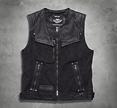 Chassis Textile/Leather Vest