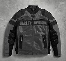 harley-davidson men's fxrg switchback leather riding jacket
