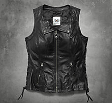 Brigid Fringe Leather Vest