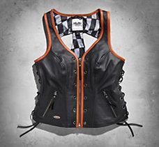 Racer Leather Vest