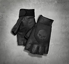 Layton Leather/Mesh Fingerless G...
