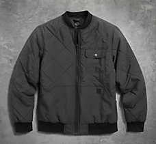 Quilted Nylon Bomber Jacket