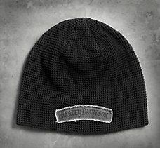 Patch Waffle Knit Hat