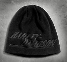 Debossed Graphic Knit Hat