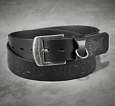 Accent Stitch Leather Belt