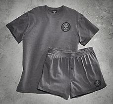 Knit Tee & Boxer Short Set
