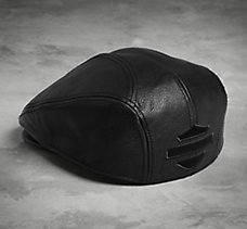 Stylized Logo Leather Ivy Cap