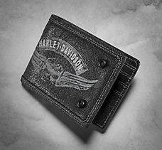 Winged Skull Bi-Fold Wallet