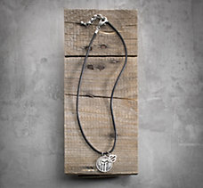 #1 Skull Leather Necklace