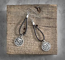 #1 Skull Leather Earrings