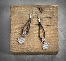 Pink Label Beaded Earrings