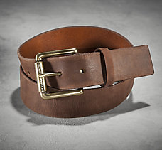 Distressed Tan Leather Belt