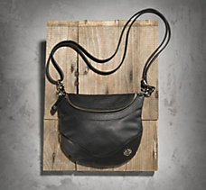 Bar & Shield Leather Hip Bag