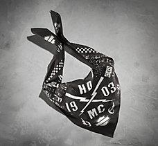 Black Multi-Graphic Bandana