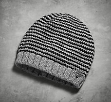 Textured Stripe Knit Hat