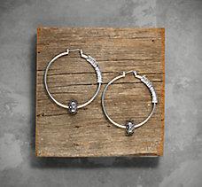 Smoke Rhinestone Hoop Earrings