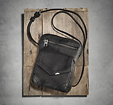 Front Pocket Leather Crossbody B...