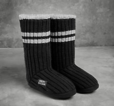 Striped Knit Slipper Boot