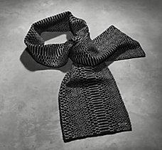 Python Pattern Knit Scarf