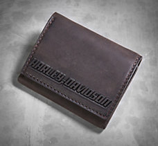 Embossed Graphic Tri-Fold Wallet