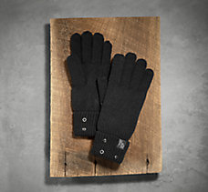 Grommet Cuffed Knit Gloves