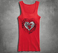 Stylized Heart Sleep Tank