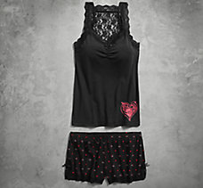 Lace Tank & Boy Short Set