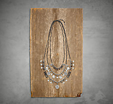 Diamond Dust Multi-Chain Necklac...