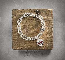 Red Rhinestone Bracelet