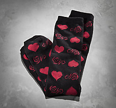 Heart Pattern Knee-High Socks