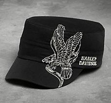 Stitched Eagle Flat Top Cap