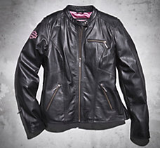 Pink Label Leather Jacket