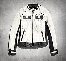 Amelia Colorblocked Leather Jack...