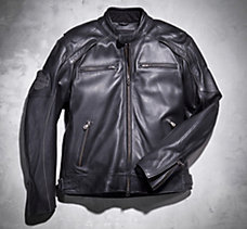 Reflective Skull Leather Jacket