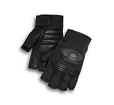 Winged Skull Fingerless Gloves