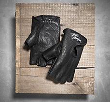 Perforated Fingerless Gloves