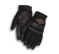 Saddle Mesh & Leather Gloves