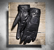 Skull Full-Finger Leather Gloves