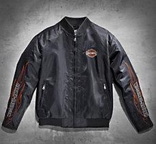 Flames Nylon Bomber Jacket