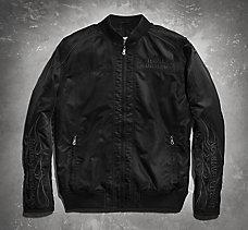 Skull & Flames Bomber Jacket