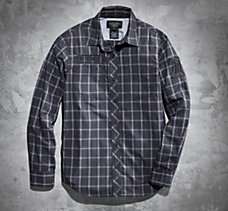 H-DMC Long-Sleeve Plaid Shirt