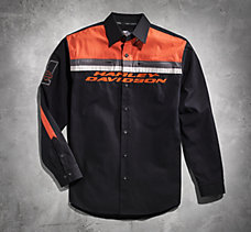 Black & Orange Woven Shirt
