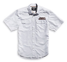 White Short Sleeve Performance S...