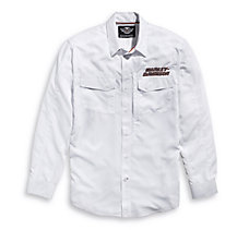 White Long Sleeve Performance Sh...