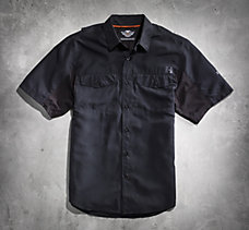 Black Short Sleeve Performance S...