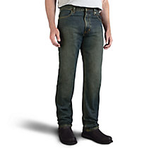 Traditional Fit Jeans - Washed B...