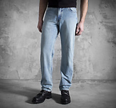 Traditional Fit Jeans - Faded De...